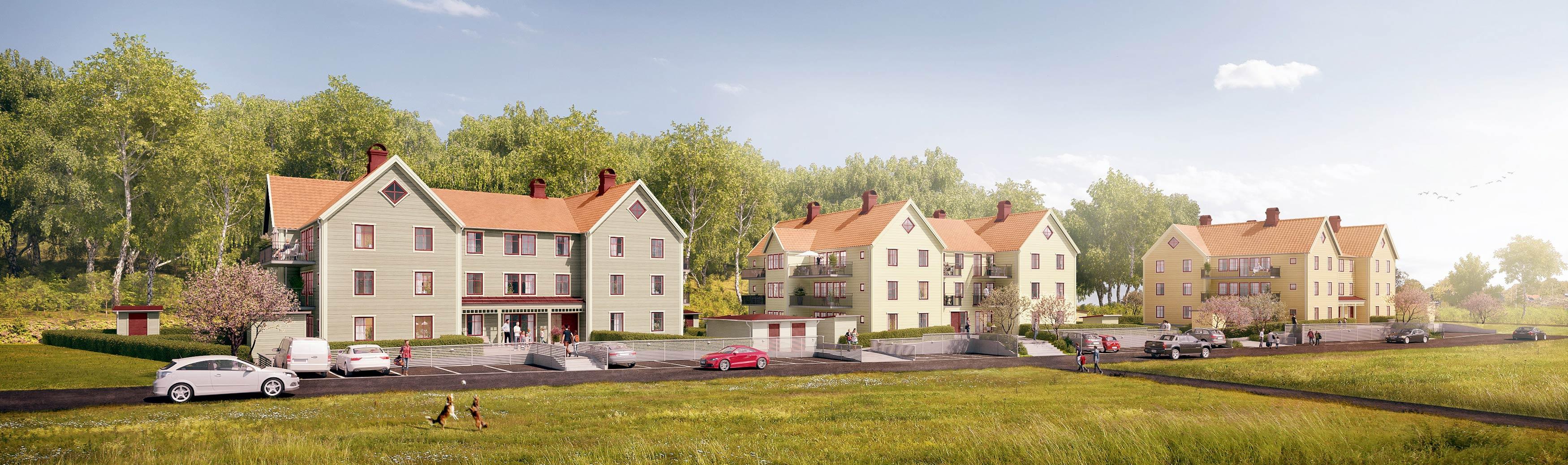 Parkvillorna ett projekt som Axeby Bostad står bakom